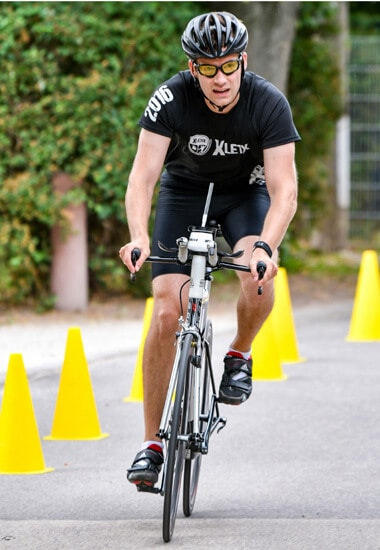 Ich auf dem Fahrrad