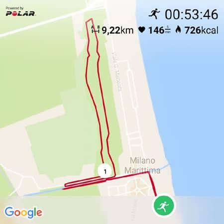Laufstrecke in Italien Karte