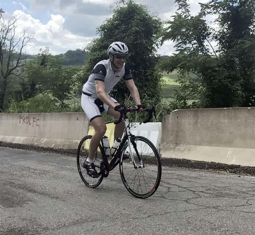 Florian auf dem Rennrad