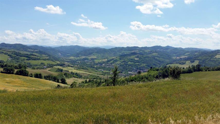 Ausblick Italien Landschaft Radtour