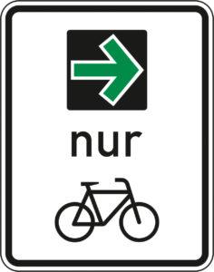 Grüner Pfeil im Radverkehr